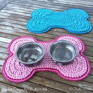 Garnkit för hundskålsmatta i rosa