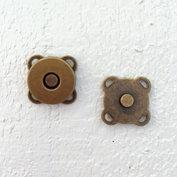 Magnetlås av metall, antikguld