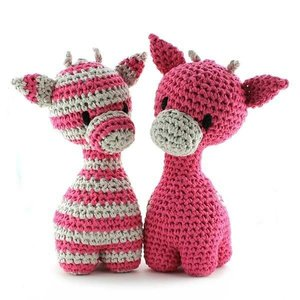 Giraffen Ziggy - bubble gum pink, maxigurumi