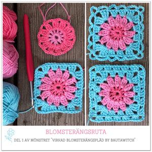 Utskrivet mönster till BautaWitch blomsterängspläd  (24 sidor)