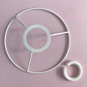 Metallring för användning med lampsockel, 15 cm, vit