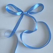 Satinband 15 mm, ljusblått, 150 cm långt
