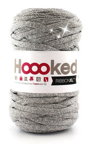 Hoooked Ribbon XL - lurex silver glitter