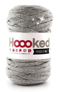 Hoooked Ribbon XL - lurex silver glitter