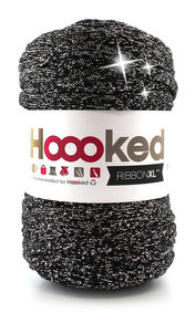Hoooked Ribbon XL - lurex black sparkle