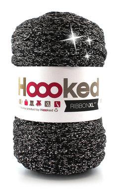 Hoooked Ribbon XL - lurex black sparkle