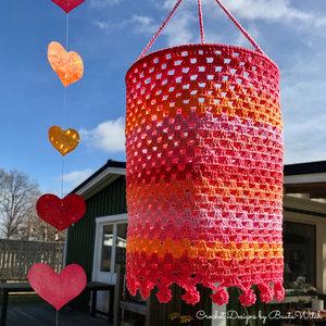 Materialkit till en rosa lanterna, strlk 20 cm i ∅
