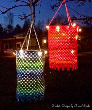 Materialkit till en turkos lanterna, strlk 15 cm i ∅