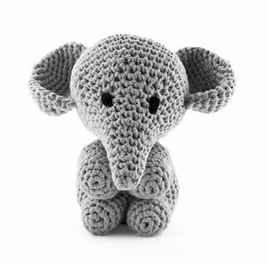 Elefanten Moo - silver grey, maxigurumi