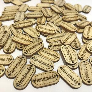 Handmade - tag/knapp i trä