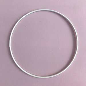 Metallring 20 cm, vit
