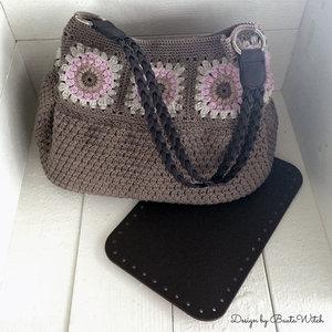 Materialkit till Sunburst-väska med bruna skinntillbehör
