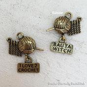 I love 2 crochet - smyckesberlock i antikguld