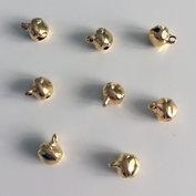 Dekorationsbjällror, 6 mm i guld