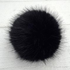 Pälstofs - svart strlk M