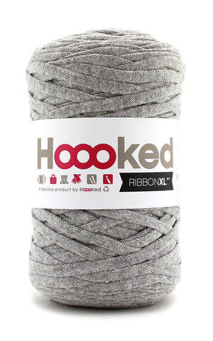 Hoooked Ribbon XL - silver grey