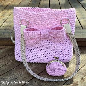 Materialkit till liten romantisk portmonnä i rosa