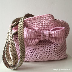 Materialkit till Rosettväska i rosa