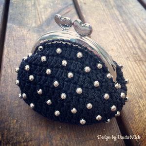 Materialkit till liten portmonnä med pärlor i svart