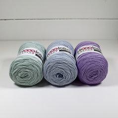 Hoooked Ribbon XL 3-pack, Blå pastell