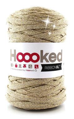 Hoooked Ribbon XL - lurex golden dust
