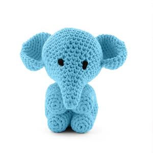 Elefanten Moo - sea blue, maxigurumi